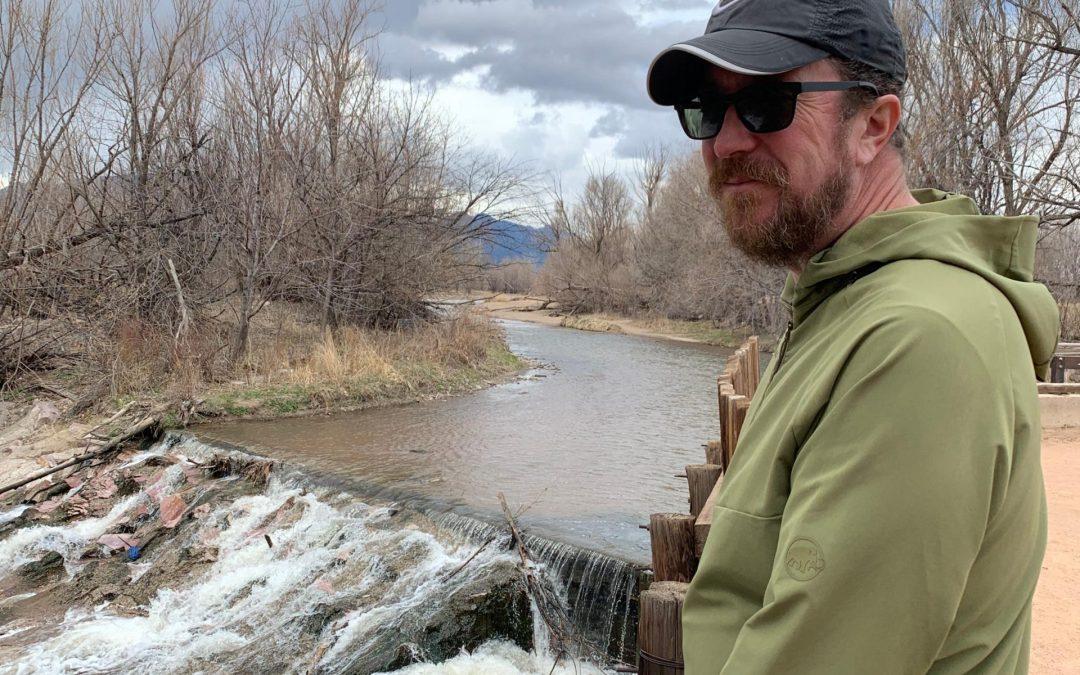 Steve enjoying Fountain Creek Park