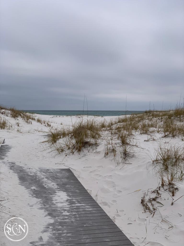 Fort Pickens beach boardwalk