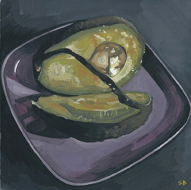 dissection-avocado-painting-gouache-5x5-stevebeadleart