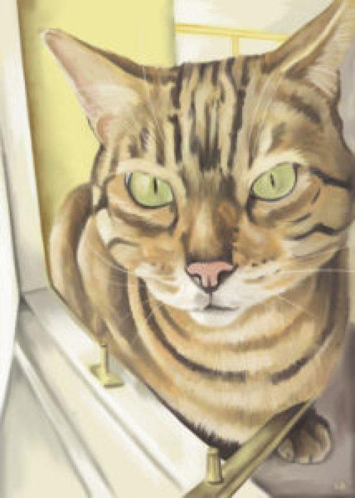 freyja-cat-digital-painting-stevebeadleart