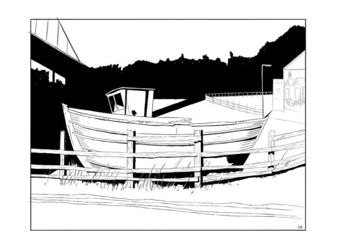 hessle-foreshore-boat-digital-inks-steve-beadle-art