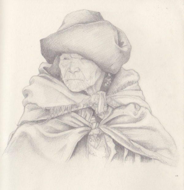 woman-in-cloak-pencil-steve-beadle-art