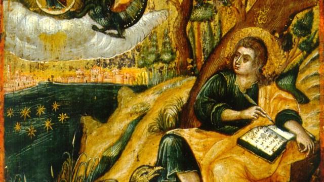 St John the Theologian, writing the book of Revelation.