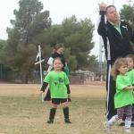 Coaching my grand daughter's soccer team!