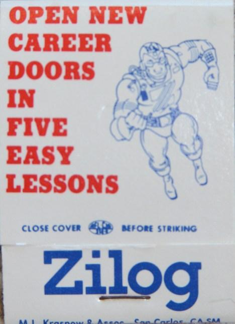 Zilog Correspondence Course Matchbook Cover