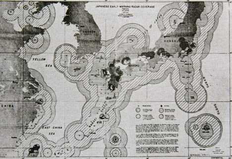 Example of Radar Coverage Map- Japan in WWII