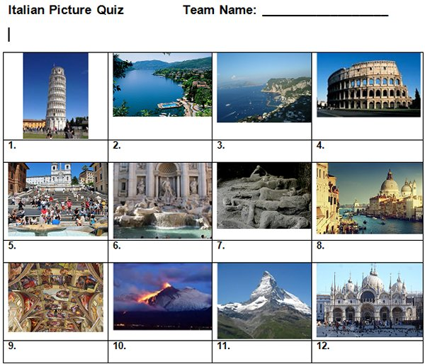 Italy Picture Quiz
