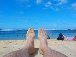 Obligatory beach foot shot