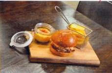 Pulled pork and Kimchi-slaw slider