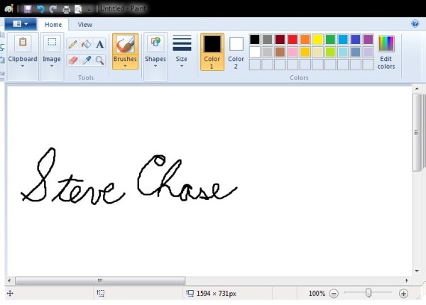 Sign a Word document with your signature | Steve Chase Docs