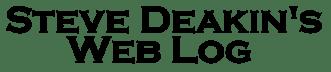 Steve Deakin's Web Log