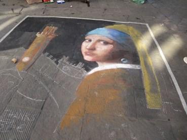 Chalk Art, Italian Style. Siena.