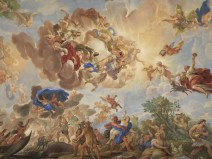 Florence: Palazzo Medici-Riccardi. Ceiling fresco by Luca Giordano, 1684-6.
