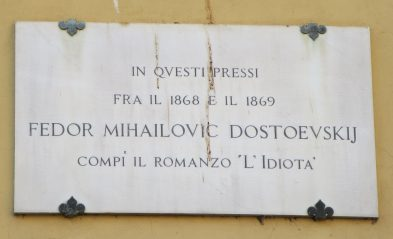 "Florence: The apartment where Dostoevsky lived while writing ""The Idiot."""