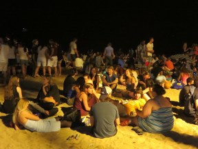 Barceloneta: San Juan party on the beach.