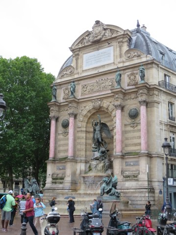 Paris: The St. Michel Fountain.