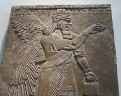 London: British Museum, Protective Spirit from Nimrud, Assyria.
