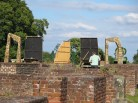 Behind the scenes, ruins of Bradgate House, Bradgate Park, Leicestershire.