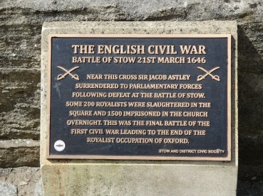 Stow: Civil War Memorial in the square.