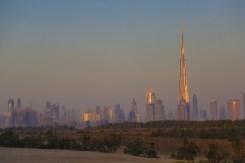 Dubai skyline at dawn from the East.