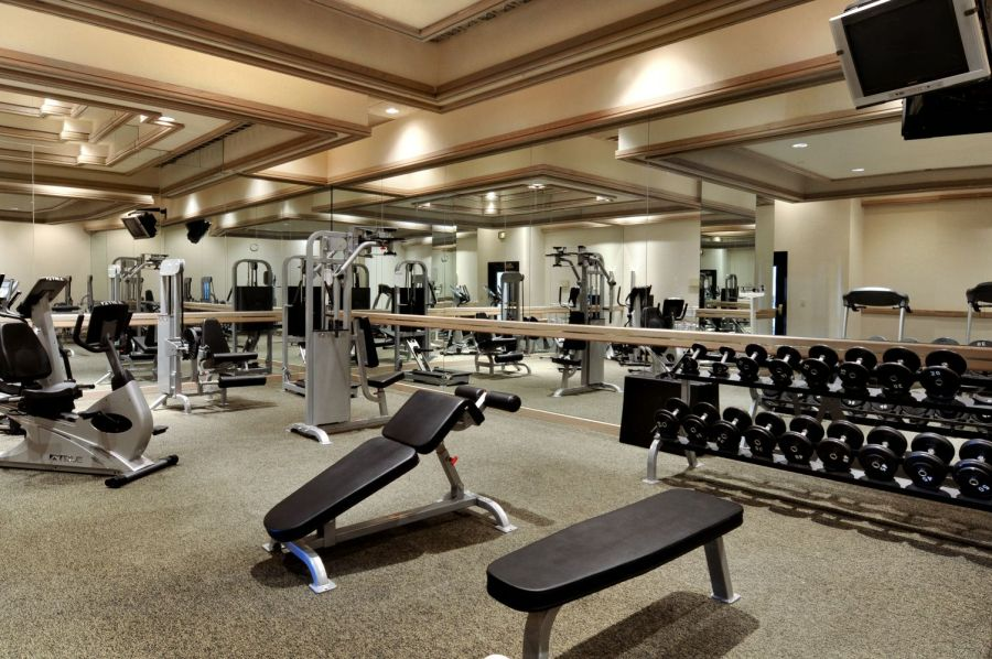 Weight room at Red Lion Denver Southeast Fitness Center