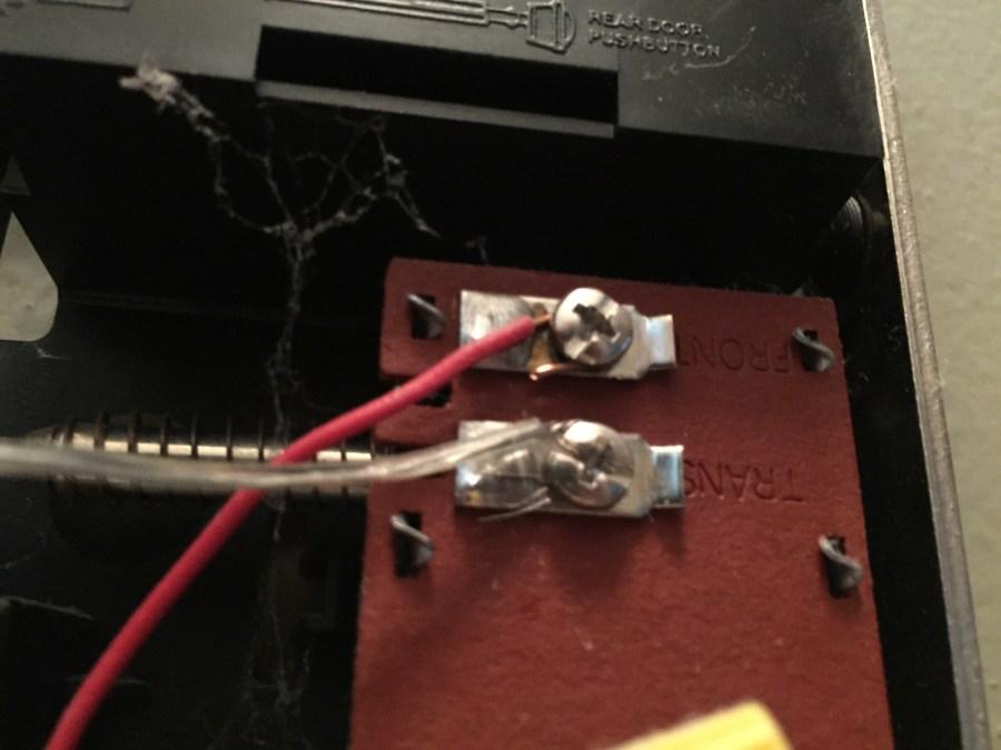 Transformer terminals for a doorbell