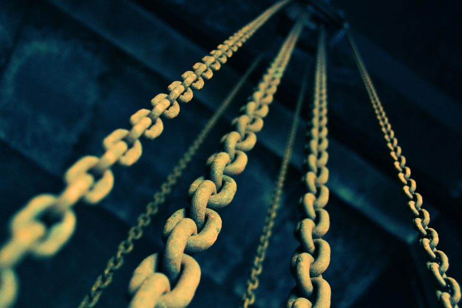 A series of links in several chains
