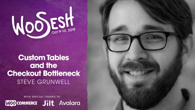 Custom Tables and the Checkout Bottleneck, presented by Steve Grunwell at WooSesh 2019