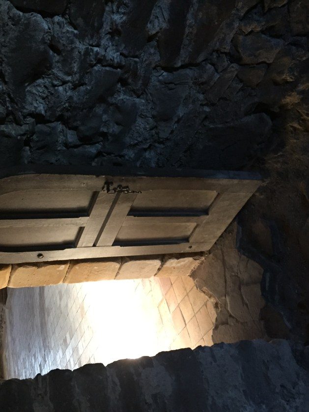 "A small door inside ""Mary's Chamber"" in Doune Castle"