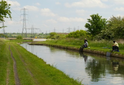 Anglers on the Tame Valley Canal