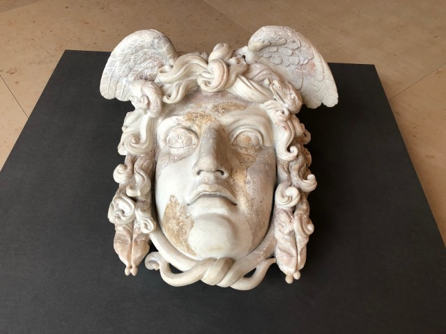 The head of Medusa, circa 137 AD, in the foyer