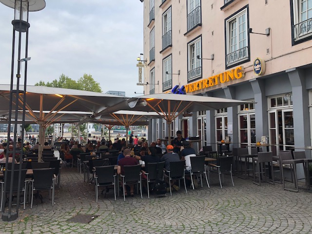 Outside the German restaurant I ate at
