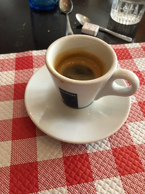 I had an espresso at the beginning and then end - they are very good in this town - but passed on dessert