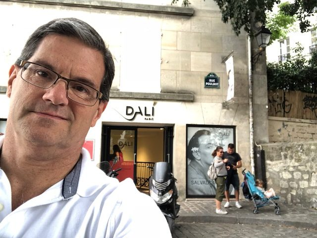 My one selfie of the day, in front of the Dali museum