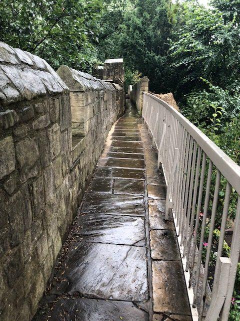Walkway along the wall