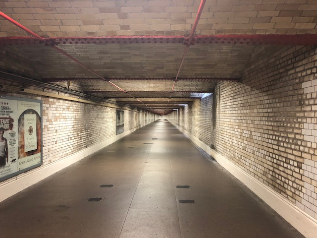 Tunnel into subway