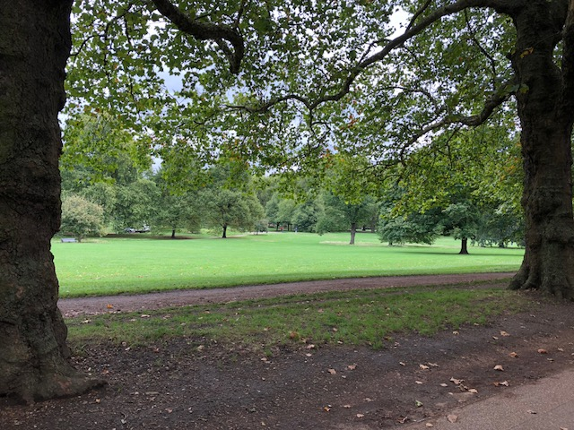 It's a fairly long walk through this park to the palace but it was beautiful