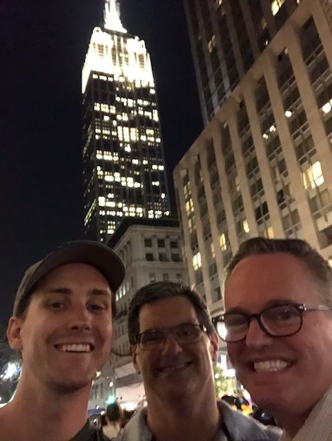 Joel, me, Art, and the Empire State Building