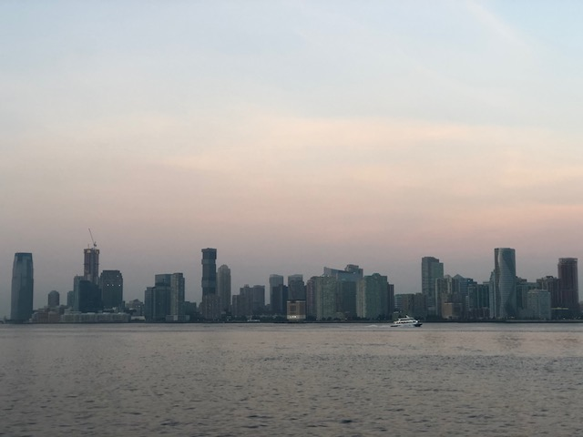 ...and Jersey City across the river