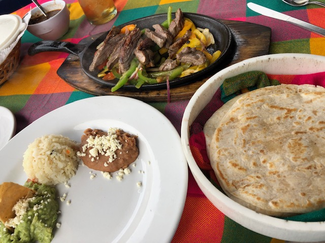 Fajitas and flour tortillas