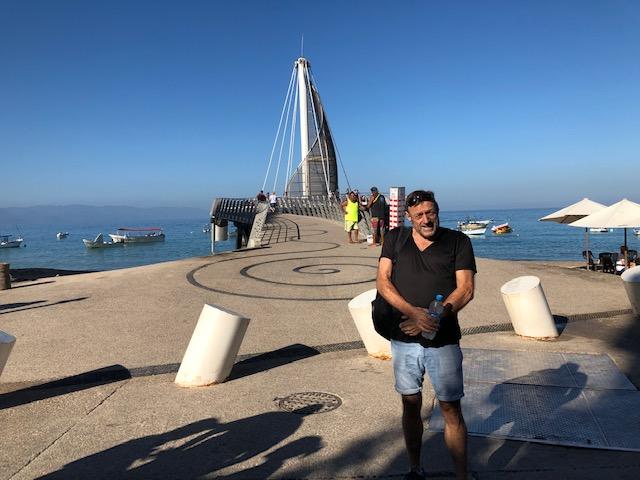 Jon in front of Los Muertos pier