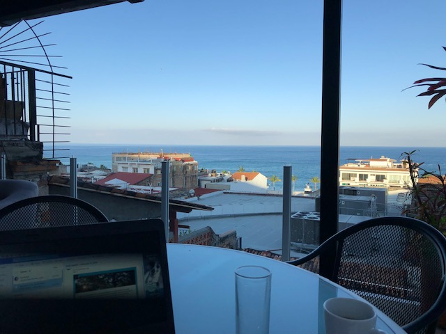 The same view of the bay from my breakfast spot.