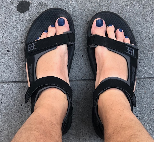 My toenails painted blue