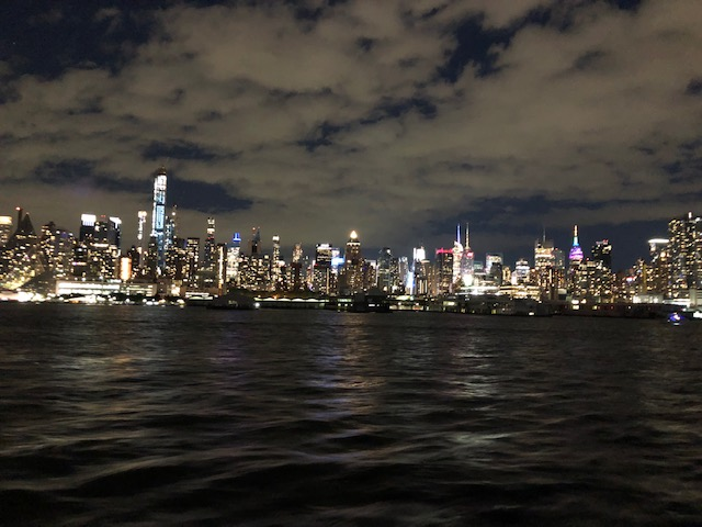 Midtown at night from the Hudson River