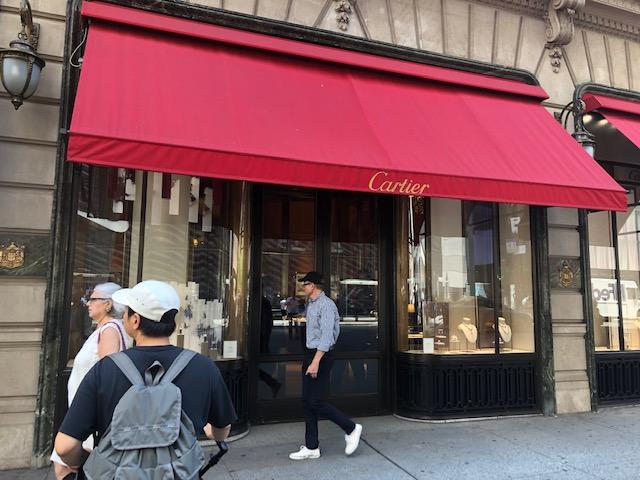 Entrance to Cartier