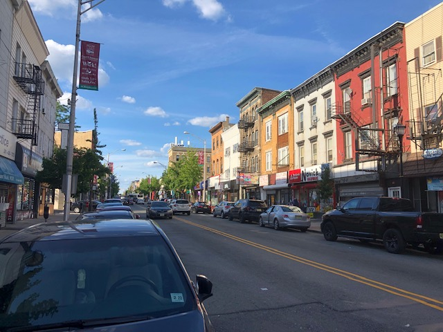 One side of Central Ave