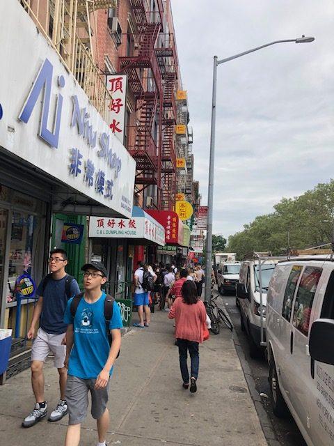 Sidewalk in Chinatown