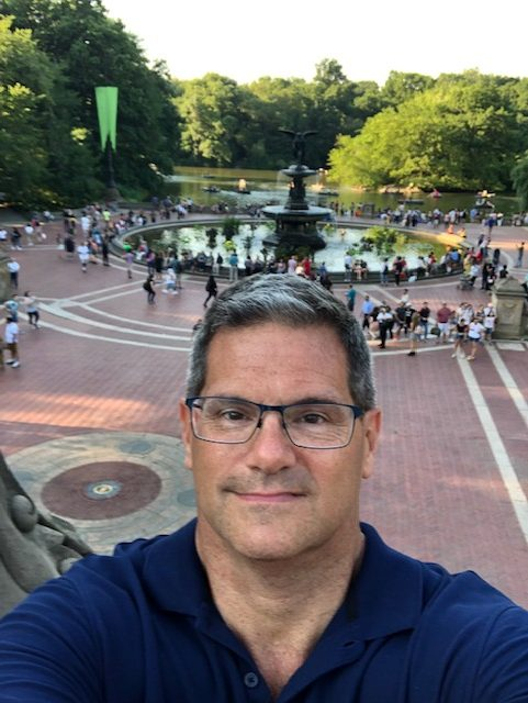 Selfie at Bethesda Fountain