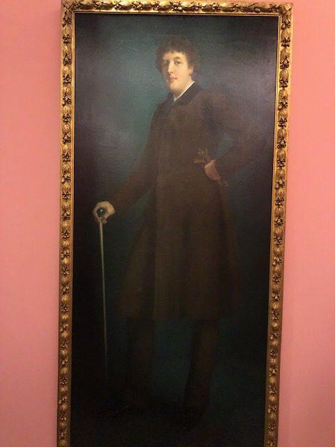 almost life sized portrait of Oscar Wilde