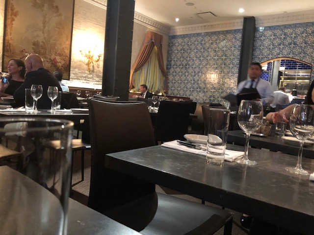 Inside the restaurant, classic elegance